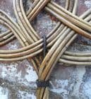 Antique 19th Century Rattan Wicker Carpet Rug Beater Cleaning Laundry Display Prop Household Cleaner